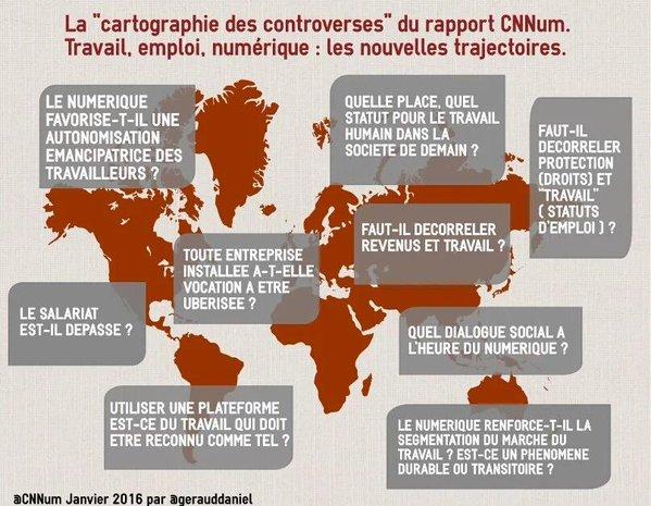 rapport travail CNNum numérique ministre travail