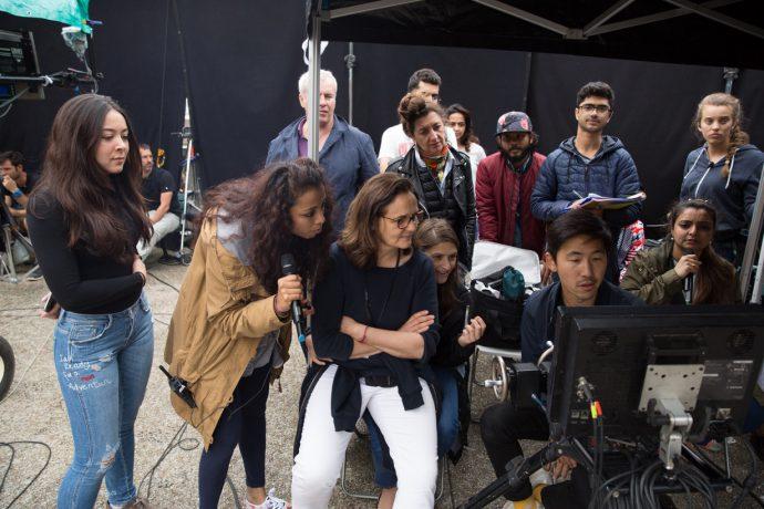 Anne Seibel sur le tournage de Befikre. ©Anne Seibel