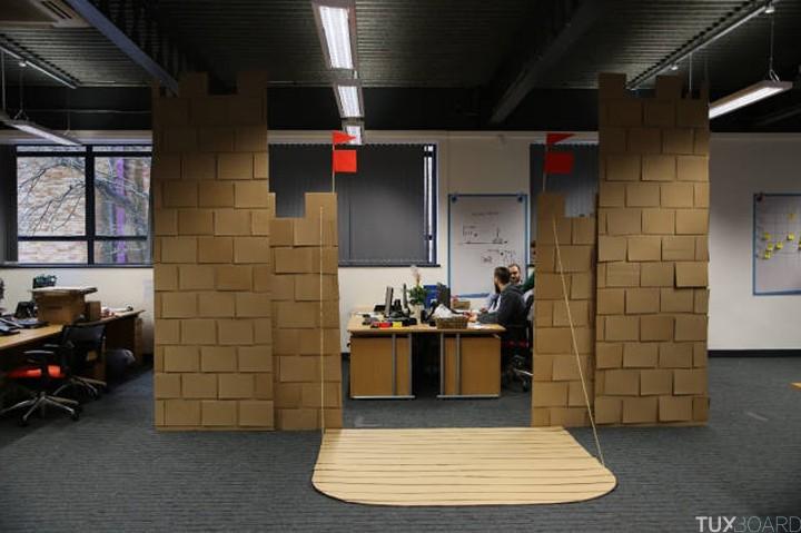 Chateau fort carton bureau mieux