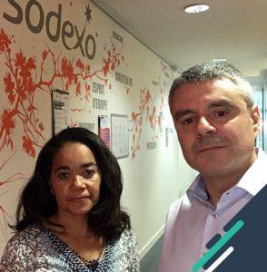 """Sylvie Bibila et Hervé Bruneau, référents """"Plan de Mobilité"""" de Sodexo Pass France"""